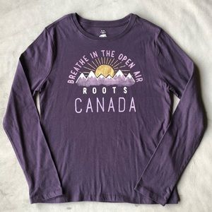 Roots Long Sleeve Tee Girls Size XL 11-12